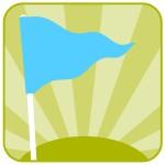 blue flag icon