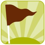 brown flag icon