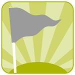 grey flag icon